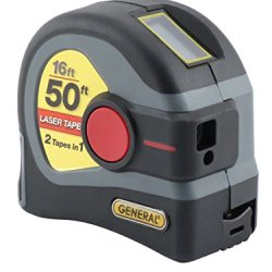 General Tools LTM1 2-in-1 Laser Tape Measure, 50' Laser Measure, 16' Tape Measure