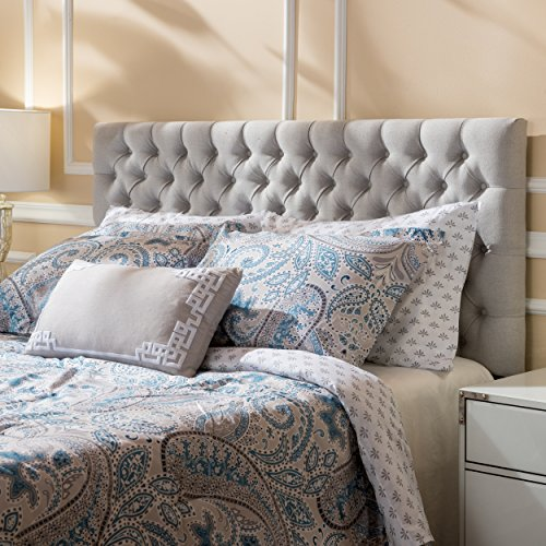 Jezebel Light Grey Fabric Queen/ Full Headboard by Christopher Knight Home