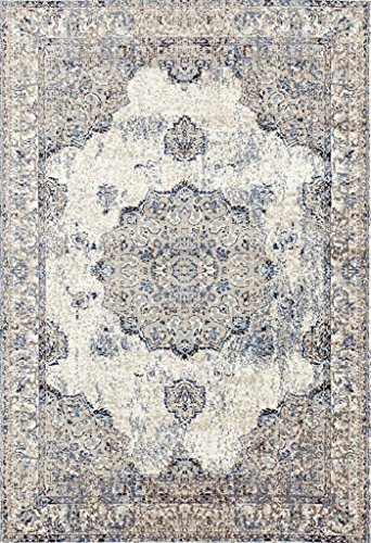 Distressed Ivory 8 x 10 Area Rug Carpet Large New