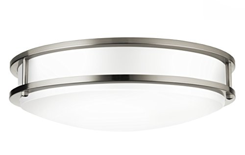 "Hyperikon LED Flush Mount Ceiling Light, 14"", 100W equivalent, 2270lm, 3000K (Soft White Glow), 120V, 14-Inch, Dimmable"