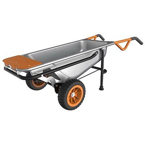 Worx Aerocart Multifunction 2-Wheeled Yard Cart, Dolly, and Wheelbarrow with Flat Free Tires - WG050