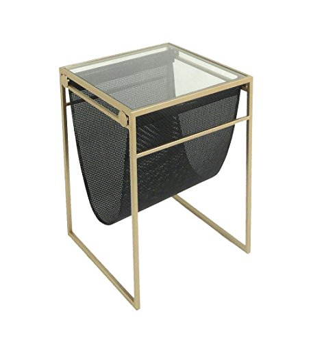 Sagebrook Home 11774 Metal & Glass Accent Table Metal/Glass, 15.75 x 15.75 x 22 Inches