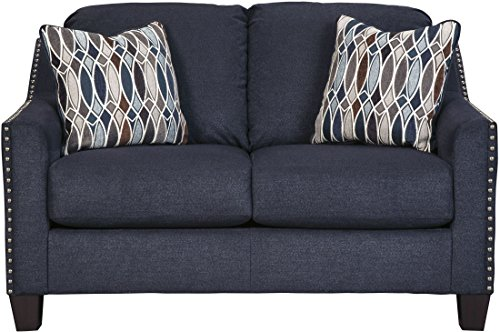 Benchcraft Creeal Heights Contemporary Upholstered Loveseat - Ink