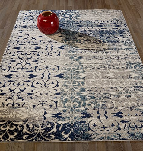 Diagona Designs Rug, 5'3 x 7'3, Grey/Multicolor