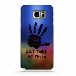 Galaxy Note 5 Case,Gift_Source [Ultra-Slim] Colorful Cute Impact Resistant Bumper Cover Flexible Soft TPU Rubber Silicone Protective Case For Samsung Galaxy Note 5 [Dont Touch My Phone]