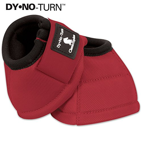 Classic Equine Dyno No-Turn Bell Boots Large Red