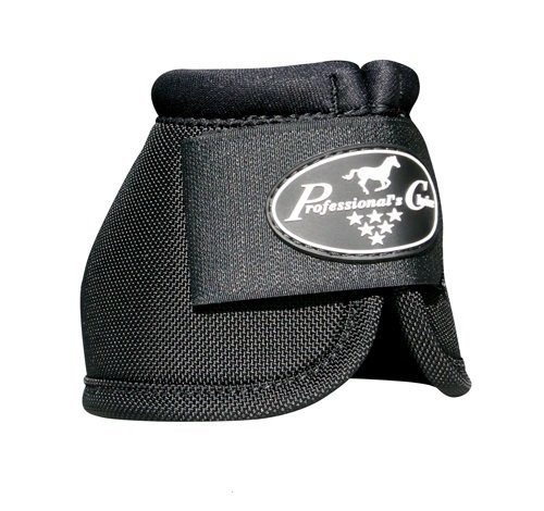 Professionals Choice Equine Ballistic Hoof Overreach Bell Boot, Pair (Medium, Black)