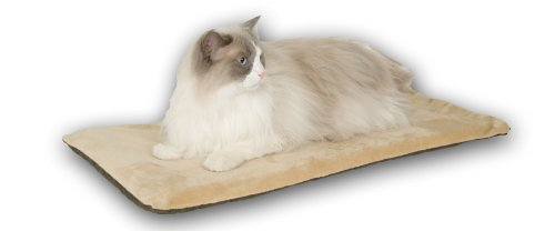"""K&H Pet Products Thermo-Kitty Mat Heated Pet Bed Mocha 12.5"""" x 25"""" 6W"""