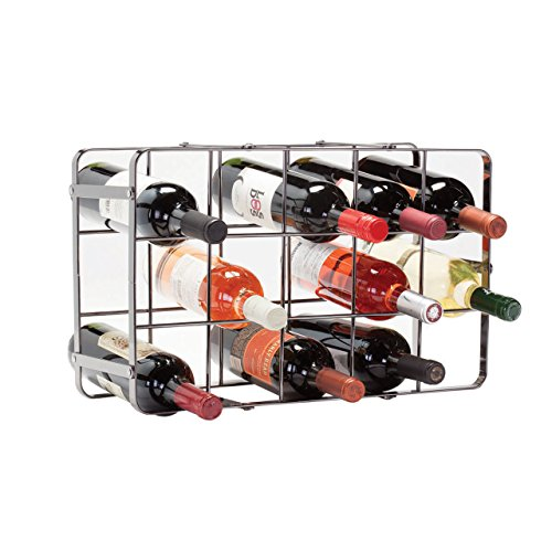 Oenophilia Black Pearl Wine Rack - 15 Bottle