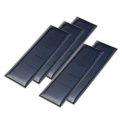 uxcell 5Pcs 5.5V 60mA Poly Mini Solar Cell Panel Module DIY for Phone Light Toys Charger 90mm x 30mm
