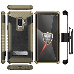 low priced e5f15 776cf Galaxy S9 Plus Case, Trishield Durable Rugged Heavy Duty Phone Cover [ Belt  Clip Holster] And Built in kickstand For Samsung Galaxy S9 Plus - Printed  ...