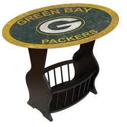 Fan Creations N0818-GBP Green Bay Packers Distressed End Table