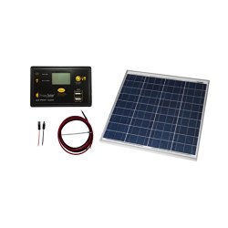 Grape Solar GS-50-KIT Off-Grid Solar Panel Kit, 50W