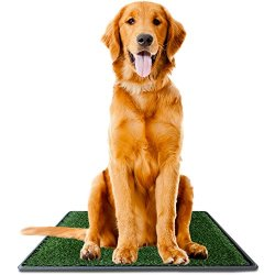 """Ideas In Life Dog Potty Grass Pee Pad – Artificial Pet Grass Patch for Dogs to Pee On Great for Puppy Potty Training as an Indoor/Outdoor Litter Box Large 30"""" x 20"""" + e-Book for Potty Training"""