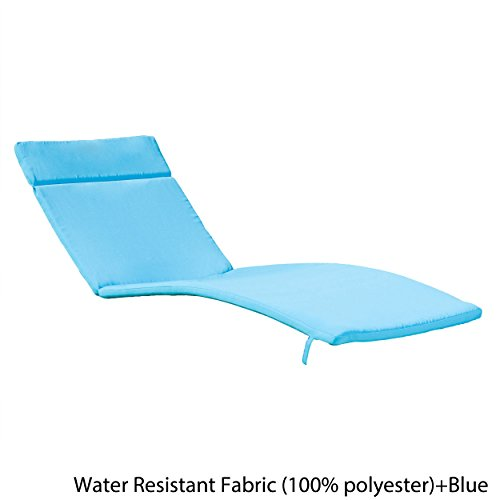 Christopher Knight Home Salem Chaise Lounge Cushion, Blue