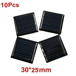 10Pcs 1V 80mah 30x25mm Micro Mini Power Small Solar Cells Module For DIY Solar Panels Battery Charger Light Kit Solar Toys Flashlight