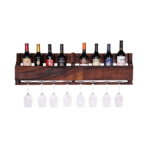 del Hutson Designs - The Olivia Wine Rack, USA Handmade Reclaimed Wood