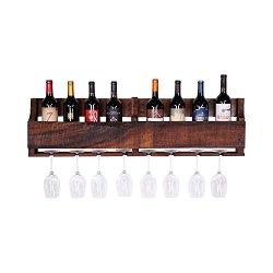 del Hutson Designs - The Olivia Wine Rack, USA Handmade Reclaimed Wood