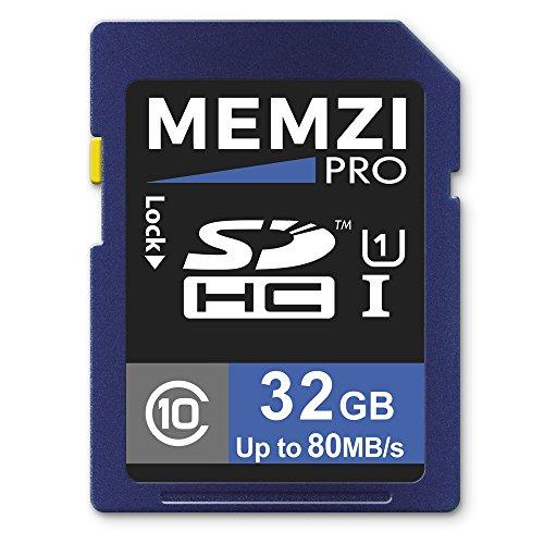 MEMZI PRO 32GB Class 10 80MB/s SDHC Memory Card for Canon PowerShot Elph 510 HS, 500 HS, 360 HS, 350 HS, 340 HS, 330 HS, 320 HS, 310 HS, 300 HS, 110 HS, 100 H Digital Cameras