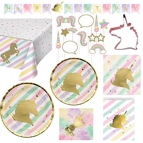 Creative Converting Unicorn Birthday Party Ultimate Bundle Serves 16 Guests
