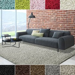 iCustomRug Dixie Cozy Soft And Plush Pile, 7ft10in x 10ft (8X10) Shag Area Rug In Smoke/Light Grey