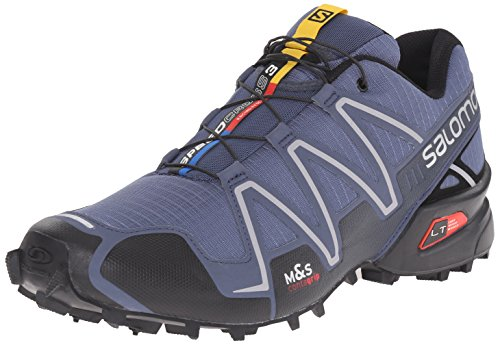 Salomon Men's Speedcross 3 Trail Running Shoe, Slate Blue/Black/Deep Blue, 10.5 D US