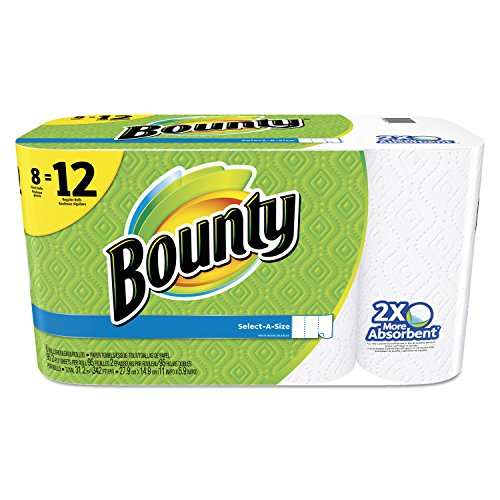 Bounty Select-A-Size Paper Towels, White, Giant Roll, 8 Count