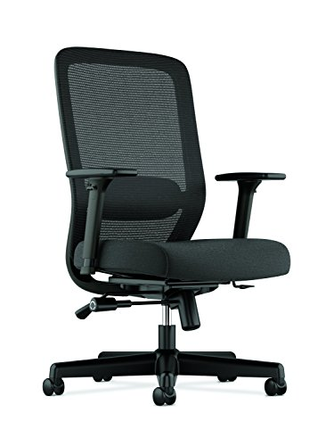 HON Exposure Mesh Task Chair - Computer Chair with 2-Way Adjustable Arms for Office Desk, Black