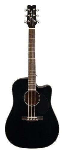 Jasmine J-Series Acoustic-Electric Guitar, Black