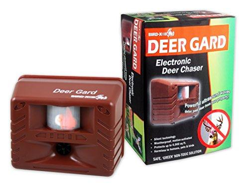 Bird-X Deer Gard Ultrasonic Motion-Activated Deer Repeller, Covers 4,000 sq. ft.