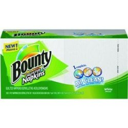 Bounty Quilted Napkins Assorted White & Prints, 200 ct