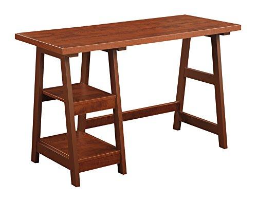 Convenience Concepts Designs2Go Trestle Desk, Cherry