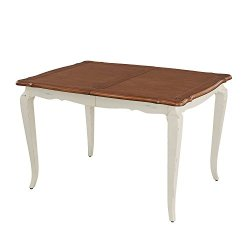 Home Styles French Countryside Rectangular Table, Black/White