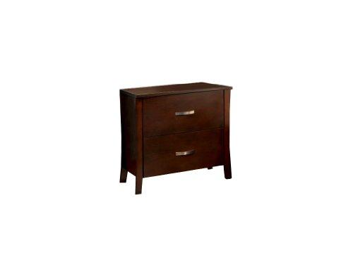 Furniture of America Bex 2-Drawer Nightstand, Brown Cherry Finish