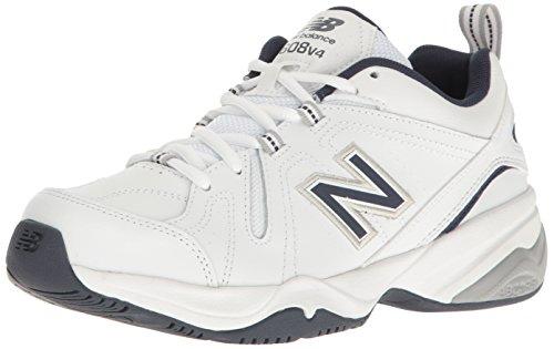 New Balance Men's MX608v4 Training Shoe, White/Navy, 10.5 D US