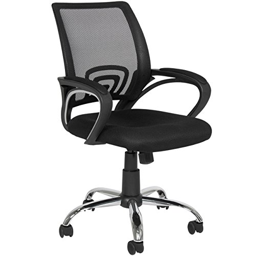 Best Choice Products Ergonomic Computer Home Office Chair w/Mesh Design (Black w Chrome Legs)