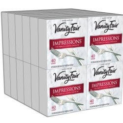 Vanity Fair Entertain Dinner Napkins, 960 Count Paper Napkins (24 Packs of 40 Napkins) (Packaging Design May Vary)