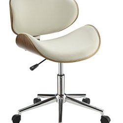 Coaster Home Furnishings Leatherette Office Chair, NULL, Ecru