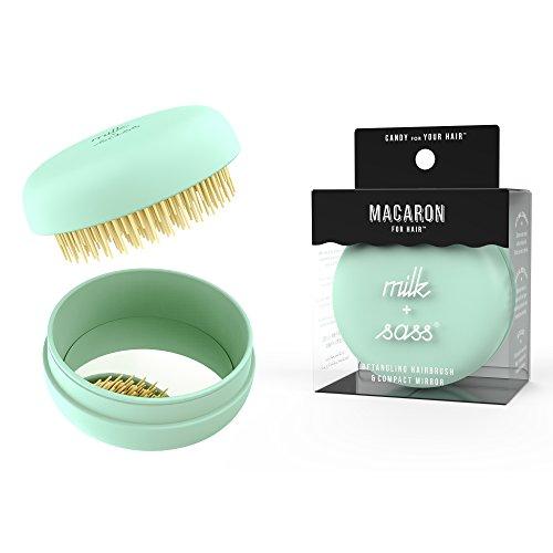 milk + sass Macaron Hair Brush, Mint Citron