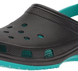 Crocs Classic Carbon Graphic CLG Clog, Tropical Teal, 8 US Men/10 US Women M US