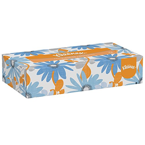 Kleenex Professional Facial Tissue for Business (21606), Flat Tissue Boxes, 48 Boxes/Case, 125 Tissues/Box