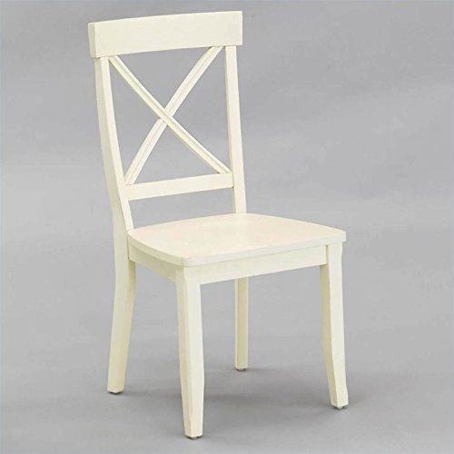 Home Styles Dining Chair, Antique White Finish, Set of 2
