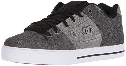 DC Men's Pure TX SE Skate Shoe, Black/Battleship/White, 11 D US