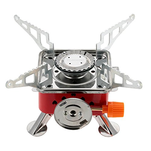 Ezyoutdoor Portable Gas Stove Camping Stove Folding Furnace 2800W Outdoor Stove Picnic Cooking Gas Burners Backpacking Furnace Butane