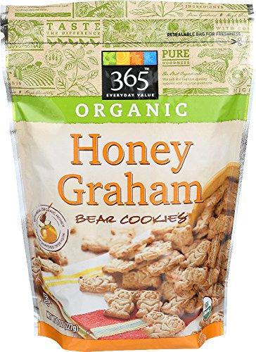 365 Everyday Value, Organic Honey Graham Bear Cookies, 8 Ounce