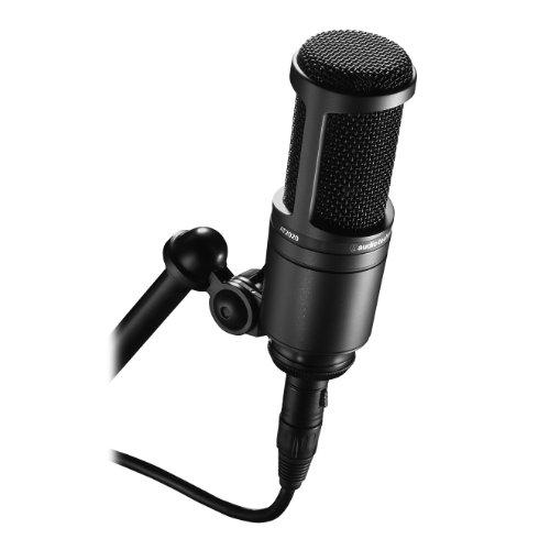 Audio-Technica Cardioid Condenser Studio Microphone, Black