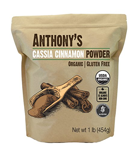 Anthony's Organic Cassia Cinnamon Powder (1lb) Ground, Gluten Free & Non-GMO