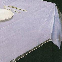 """lovemyfabric Clear 100% Vinyl Tablecloth/Table Protector (58""""X76"""")"""