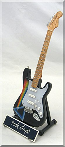 PINK FLOYD Miniature Guitar David Gilmour w/ name tag