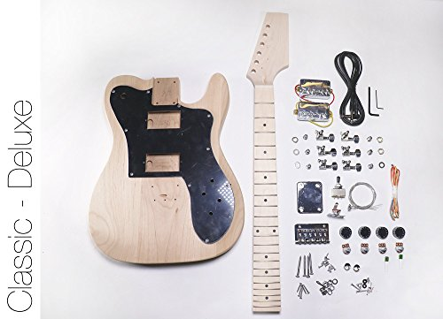 DIY Electric Guitar Kit Tele Deluxe Style Build Your Own Guitar